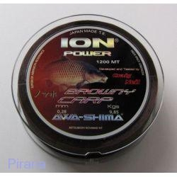 ION POWER BROWNY CARP 0,25 mm 1200 m