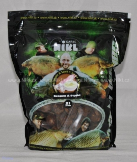 Hotové boilies 21mm 1kg Scopex & Squid